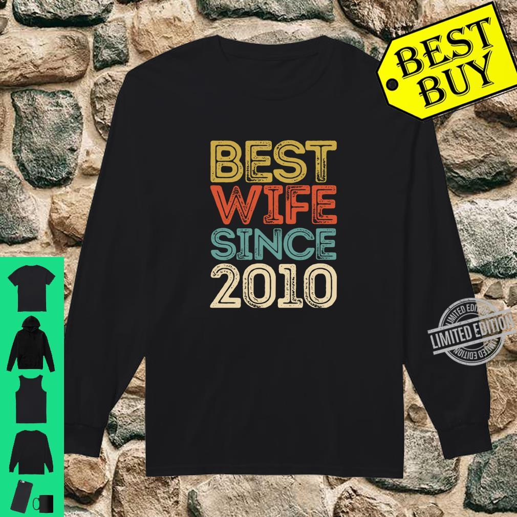10th Wedding Anniversary Best Wife Since 2010 Shirt long sleeved