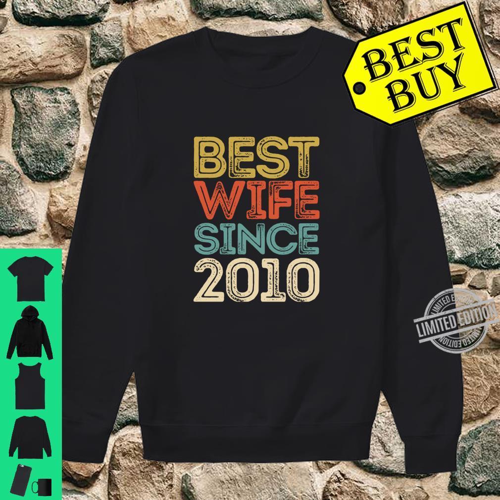 10th Wedding Anniversary Best Wife Since 2010 Shirt sweater