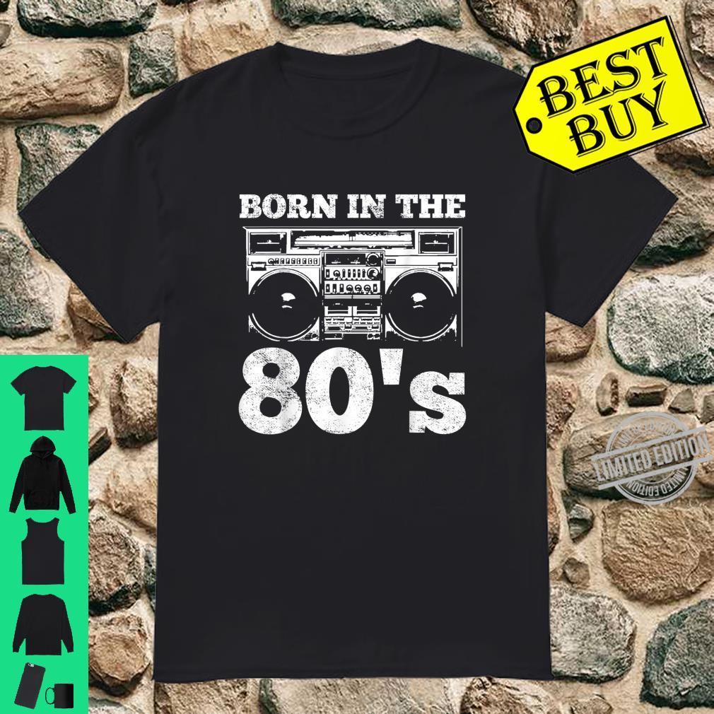 1980 80's Music Birthday Cassette Tape Shirt