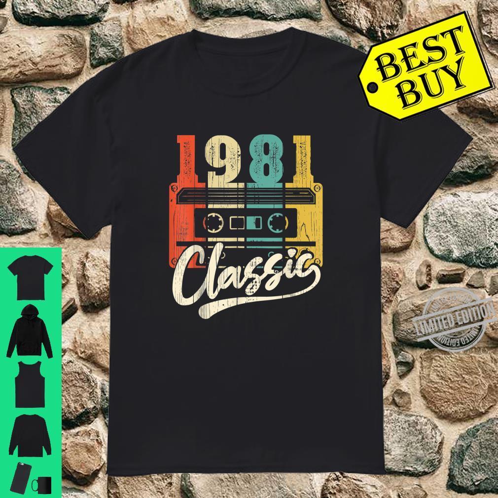 39 Jahre alter Geburtstag Bday 1981 39. Vintage Mixtape Shirt