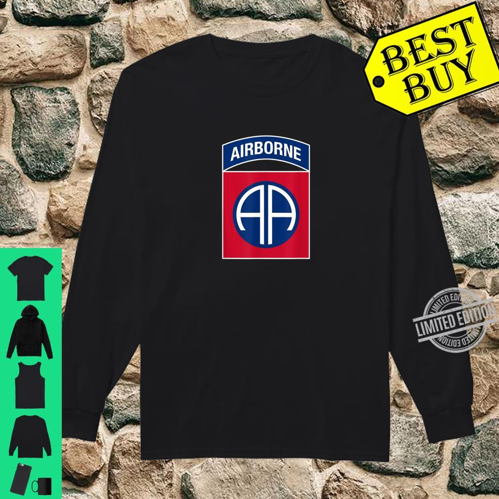 82nd Airborne Division Insignia Military Veteran Infantry Shirt long sleeved