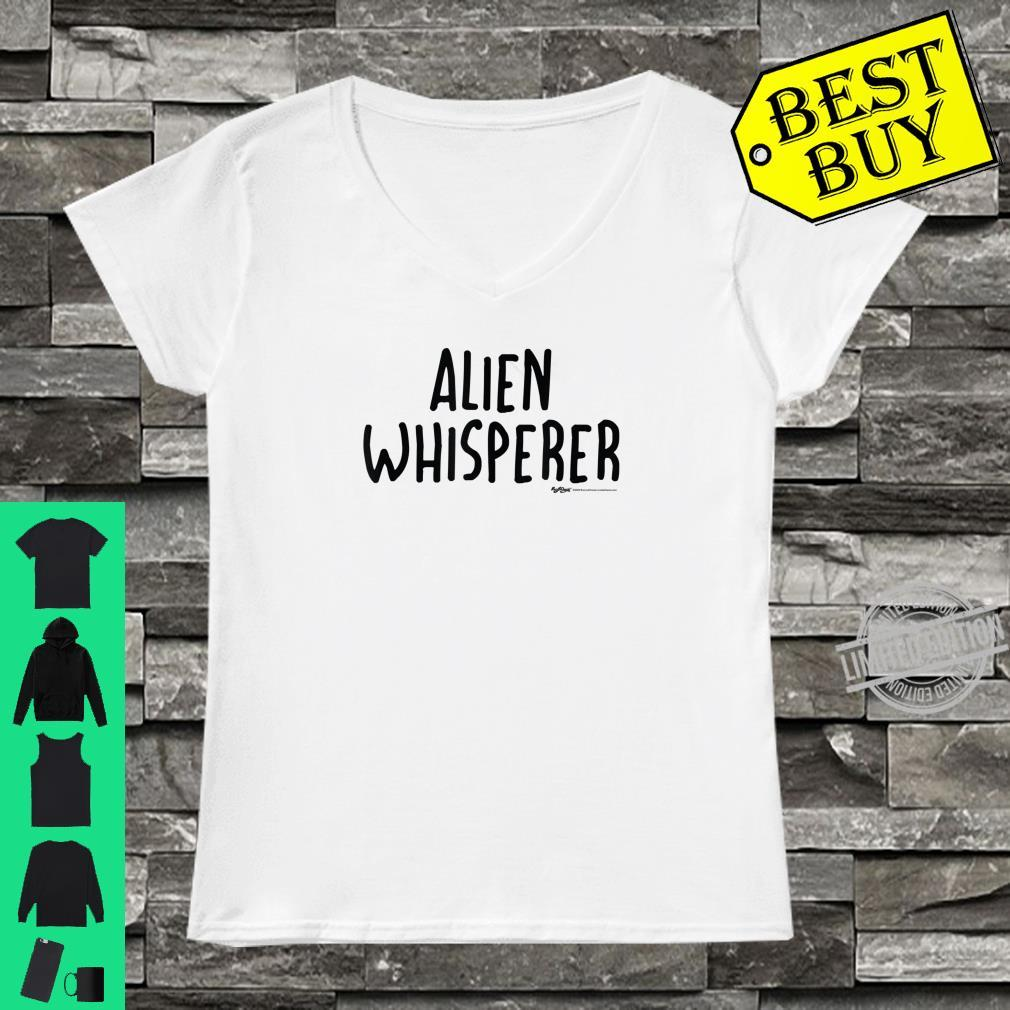 Alien Whisperer Word Design Shirt ladies tee