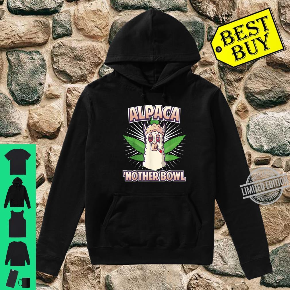 Alpaca Nother Bowl Weed Smoking Llama Cannabis Leaf Stoner Shirt hoodie