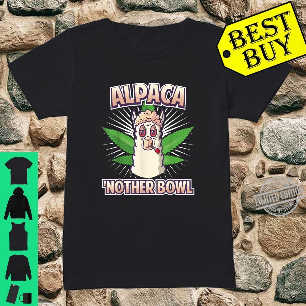 Alpaca Nother Bowl Weed Smoking Llama Cannabis Leaf Stoner Shirt ladies tee
