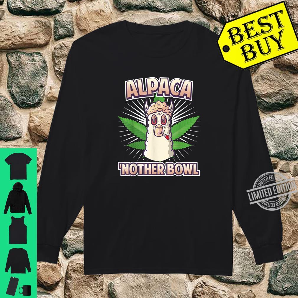 Alpaca Nother Bowl Weed Smoking Llama Cannabis Leaf Stoner Shirt long sleeved