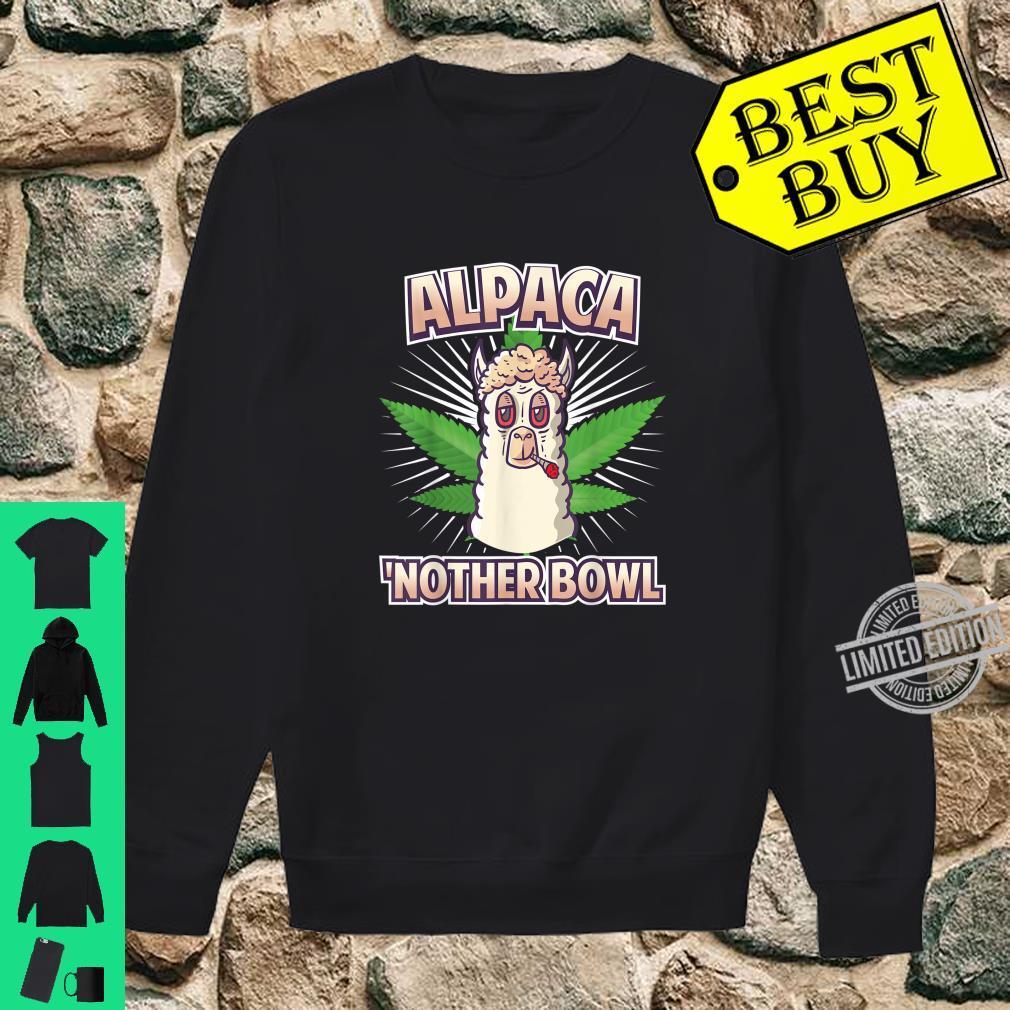 Alpaca Nother Bowl Weed Smoking Llama Cannabis Leaf Stoner Shirt sweater