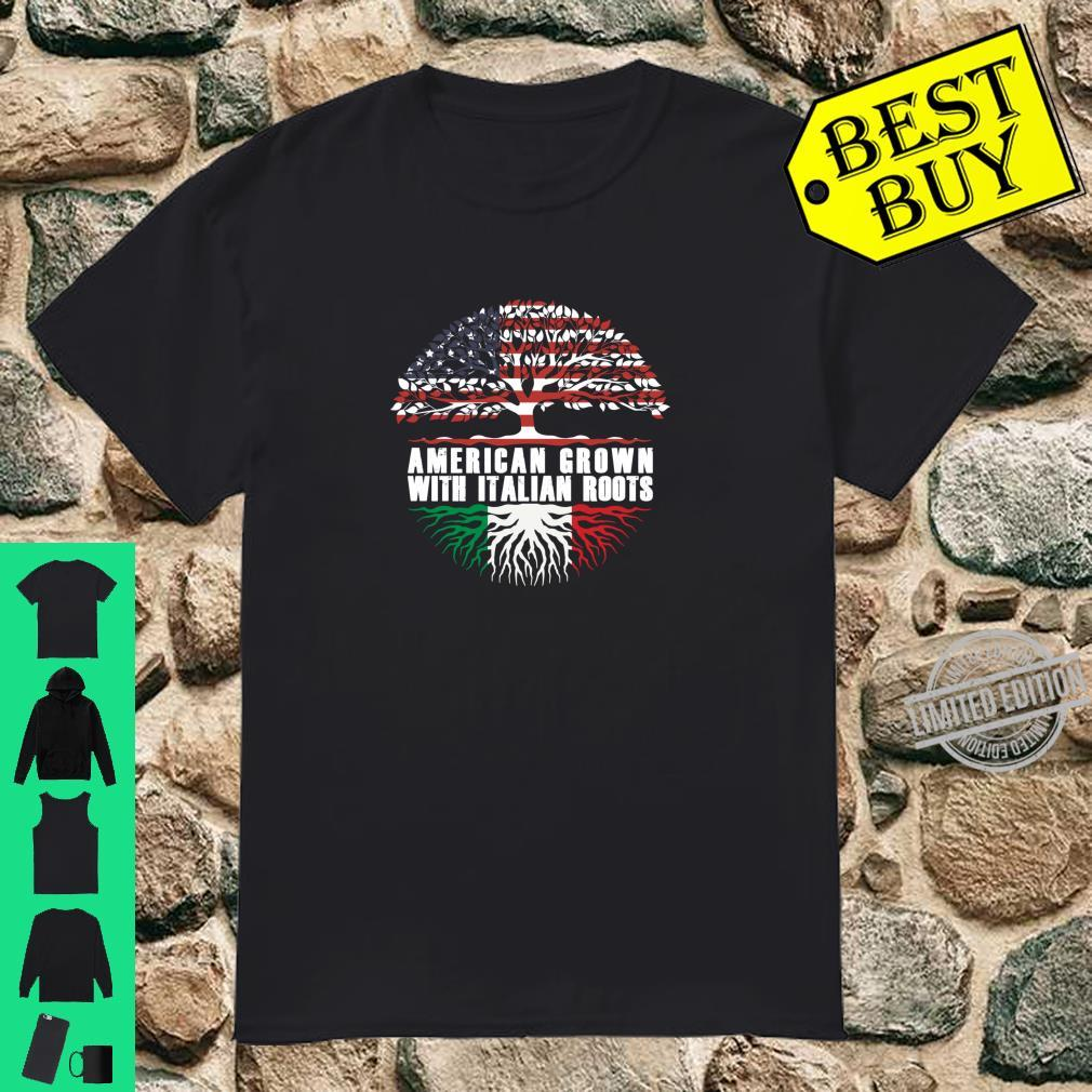 American Grown With Italian Roots Italian American Flag Shirt