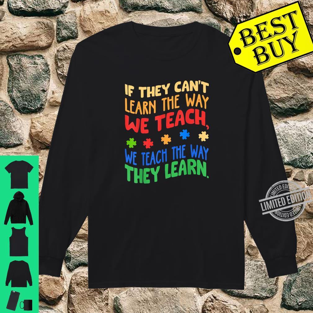 Autism Awareness Month Special ED Teacher Shirt long sleeved