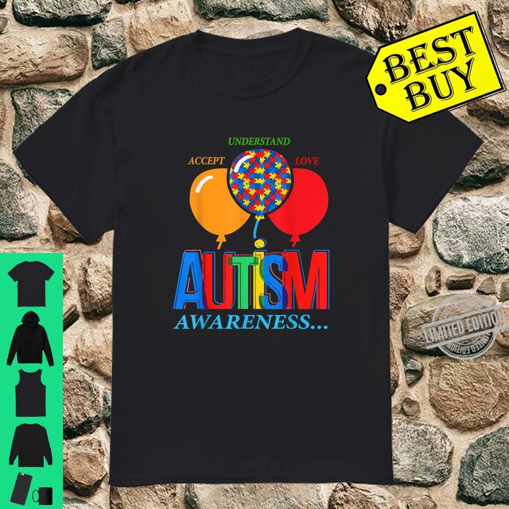 Autism Awareness with Balloons's Shirt