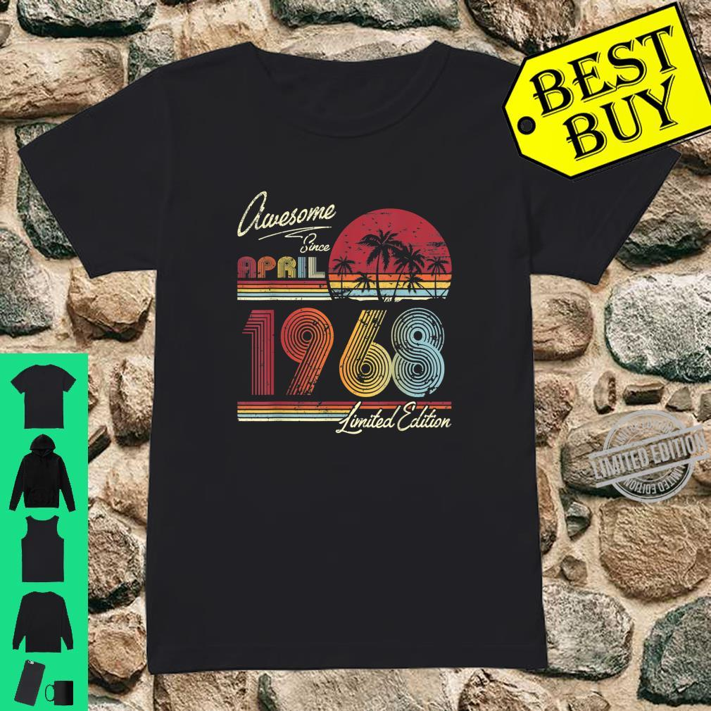 Awesome Since April 1968 52nd Birthday 52 Years Old Shirt ladies tee