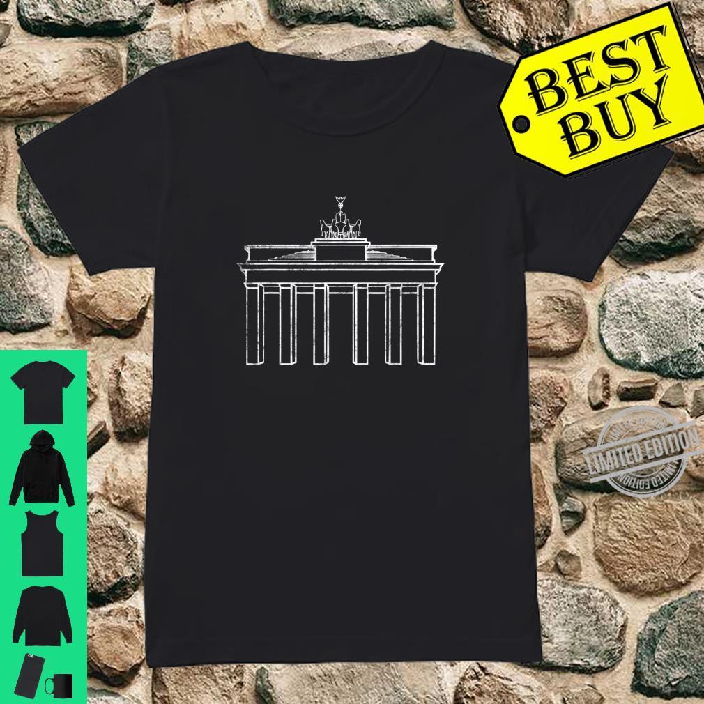 Berlin Germany Brandenburg Gate Monument Shirt ladies tee