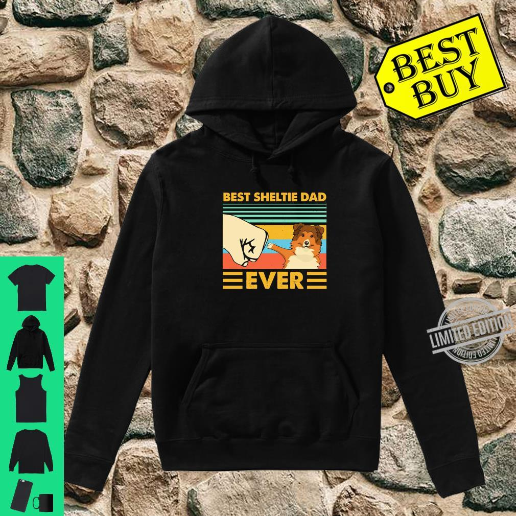 Best Sheltie Dad Ever Retro Vintage Sunset Shirt hoodie