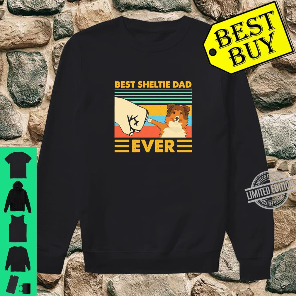 Best Sheltie Dad Ever Retro Vintage Sunset Shirt sweater