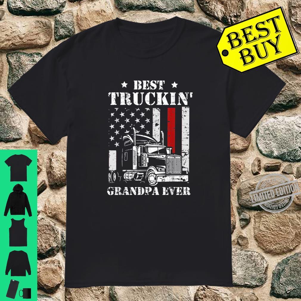Best Truckin' Grandpa Ever Flag Father's Day Shirt