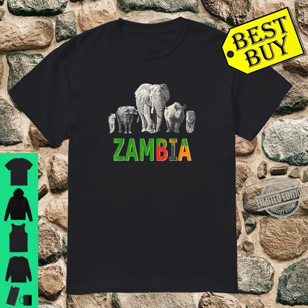 Big 5 Wildlife Design for Zambia Safari Shirt
