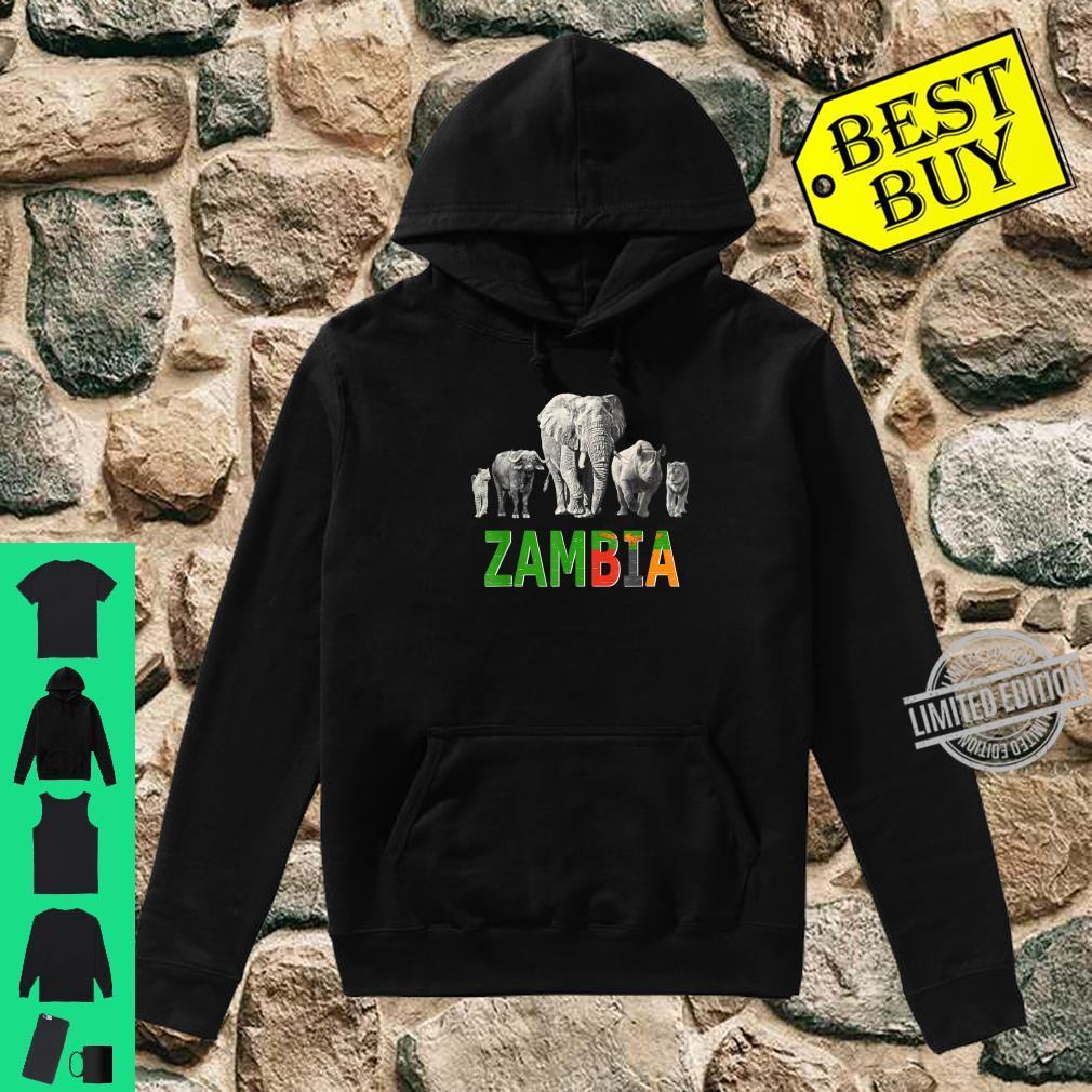 Big 5 Wildlife Design for Zambia Safari Shirt hoodie