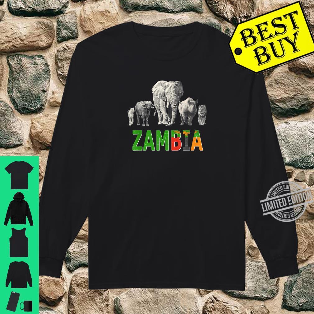 Big 5 Wildlife Design for Zambia Safari Shirt long sleeved