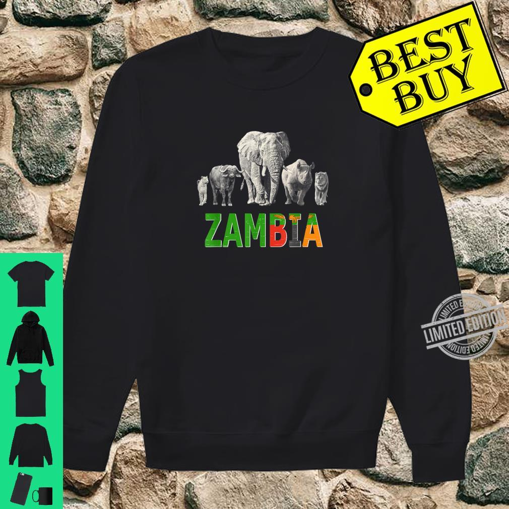 Big 5 Wildlife Design for Zambia Safari Shirt sweater