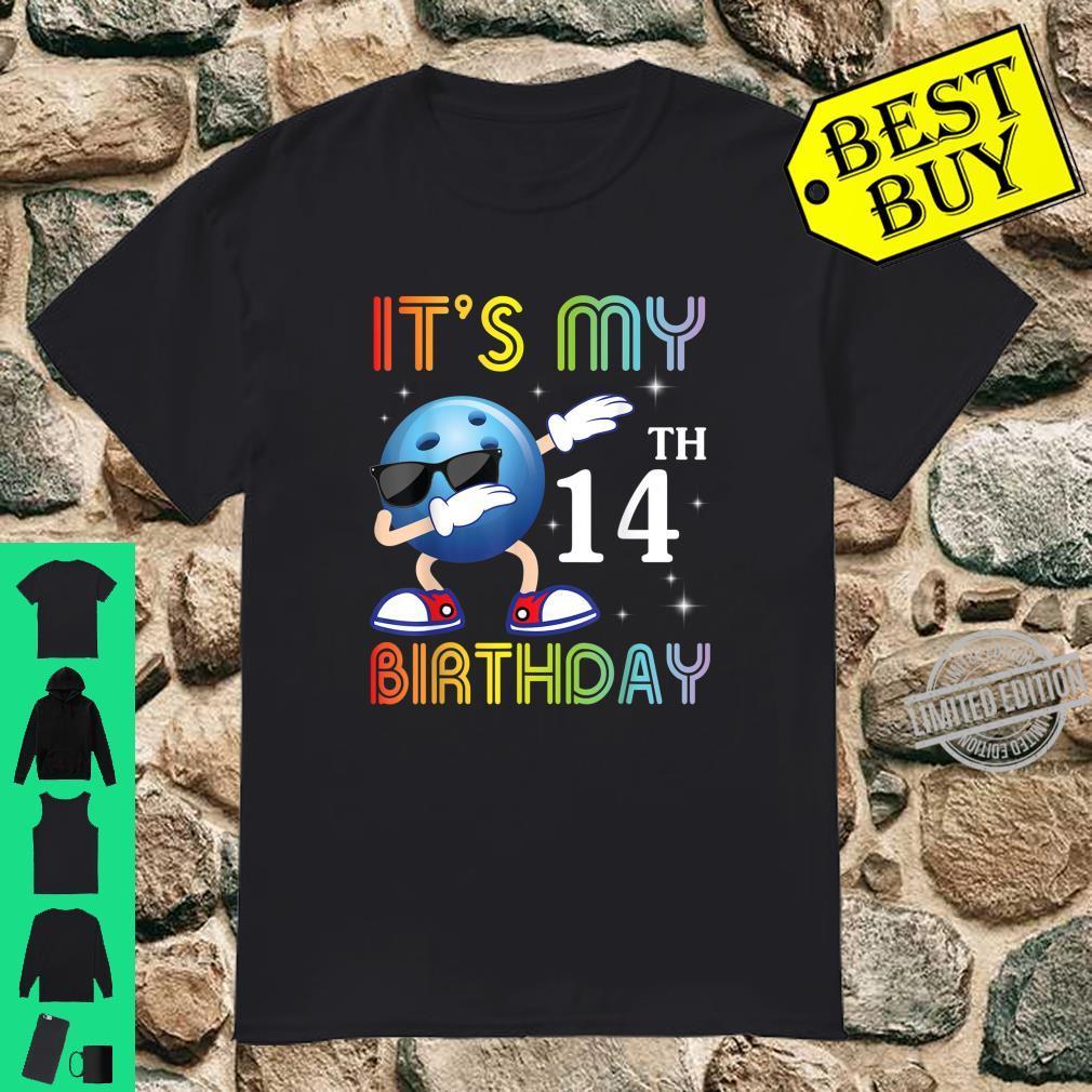 Bowling Ball Face Dabbing It's My 14th Birthday Born In 2006 Shirt