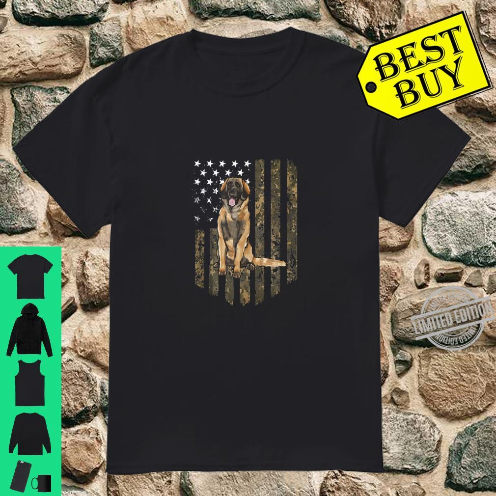 Camo American Flag Leonberger 4th Of July USA Shirt