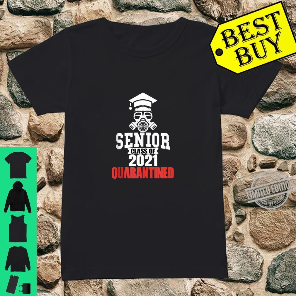 Class of 2021 Quarantine Seniors Gas Mask Shirt ladies tee
