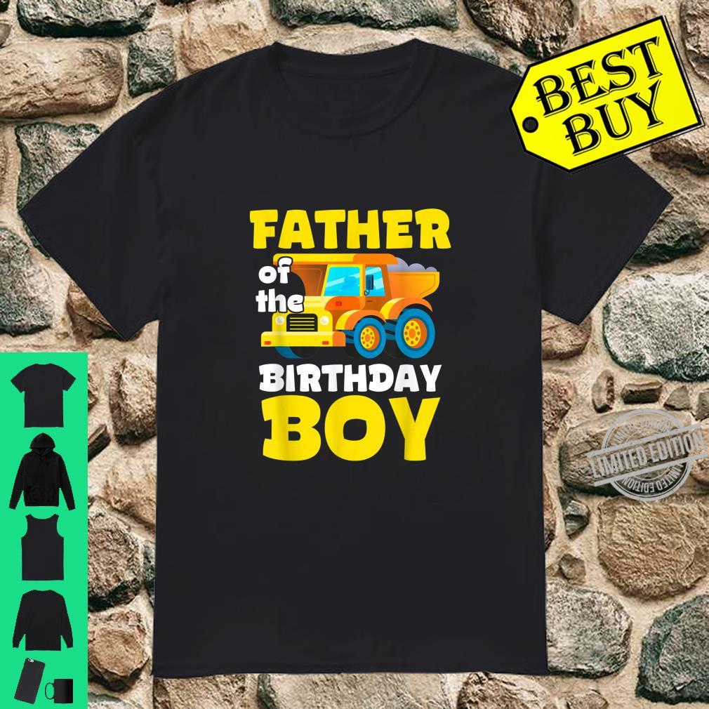 Construction Worker Squad Father of the Birthday Boy Shirt