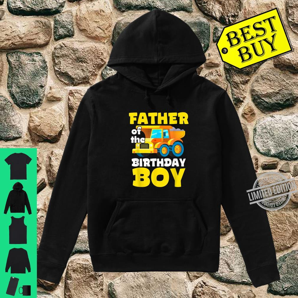 Construction Worker Squad Father of the Birthday Boy Shirt hoodie