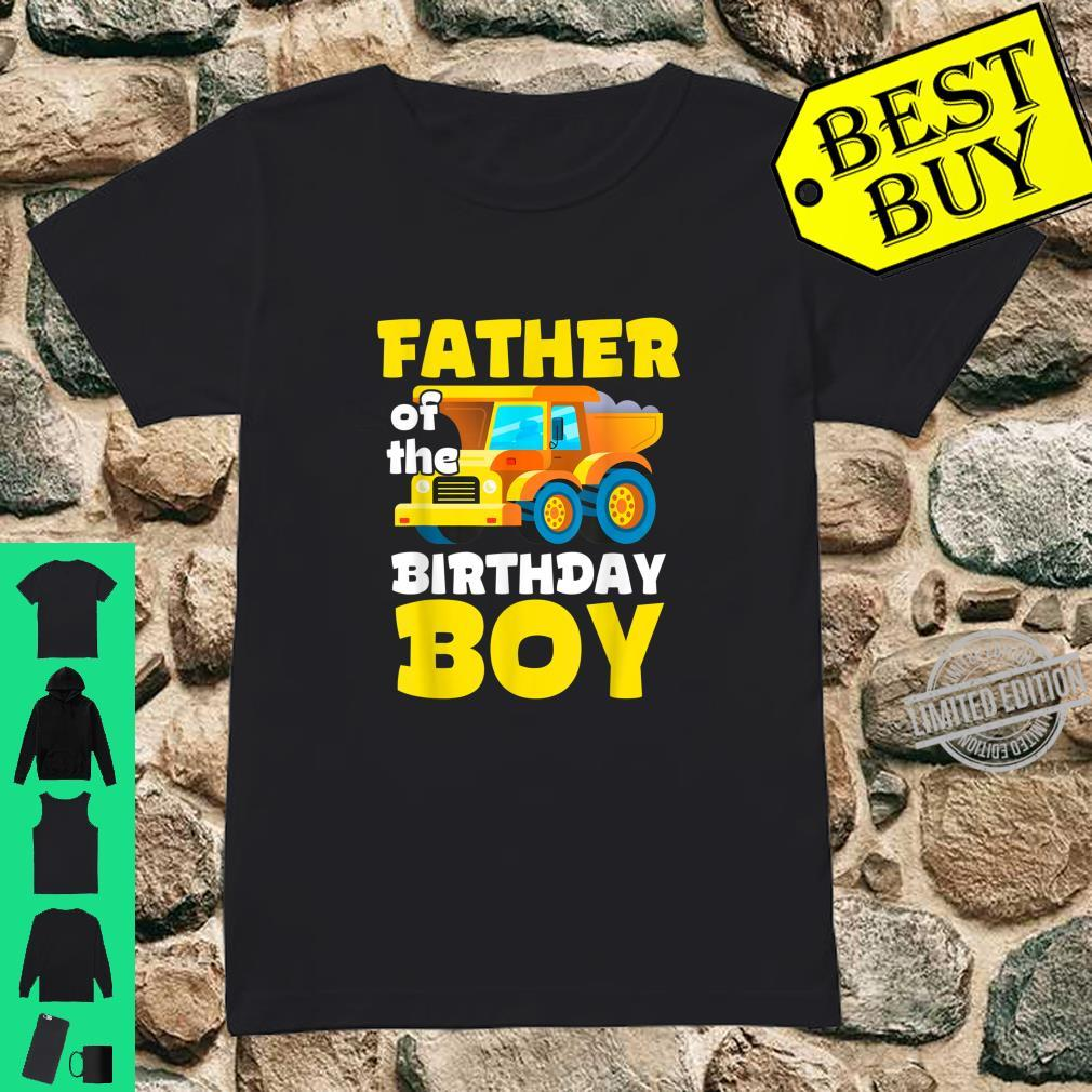Construction Worker Squad Father of the Birthday Boy Shirt ladies tee