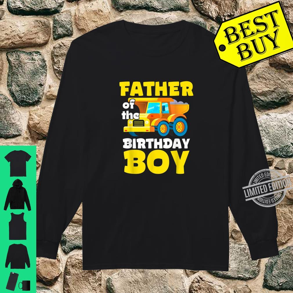 Construction Worker Squad Father of the Birthday Boy Shirt long sleeved