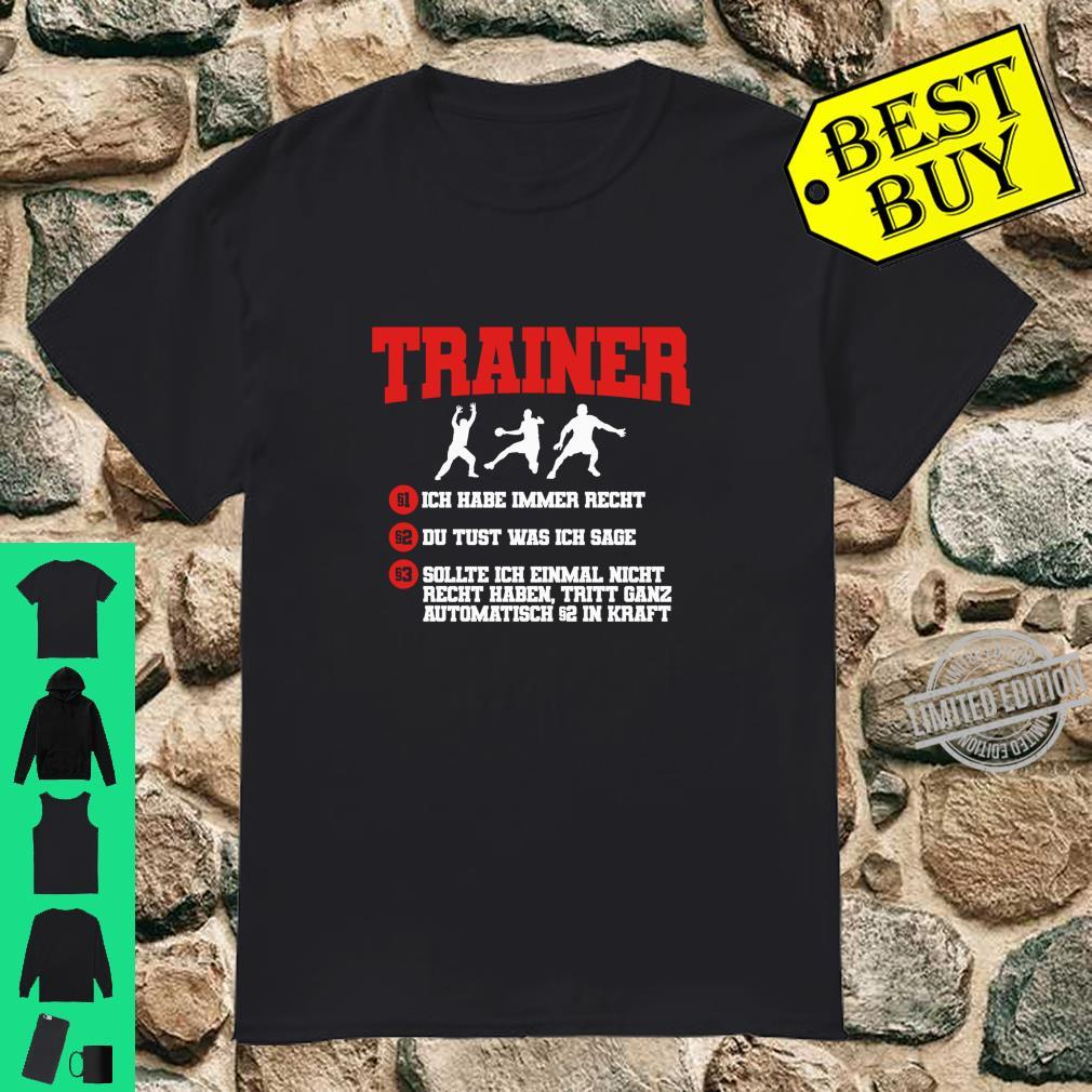 Cooler Handball Trainer Spruch Handballtrainer Geschenk Langarmshirt Shirt
