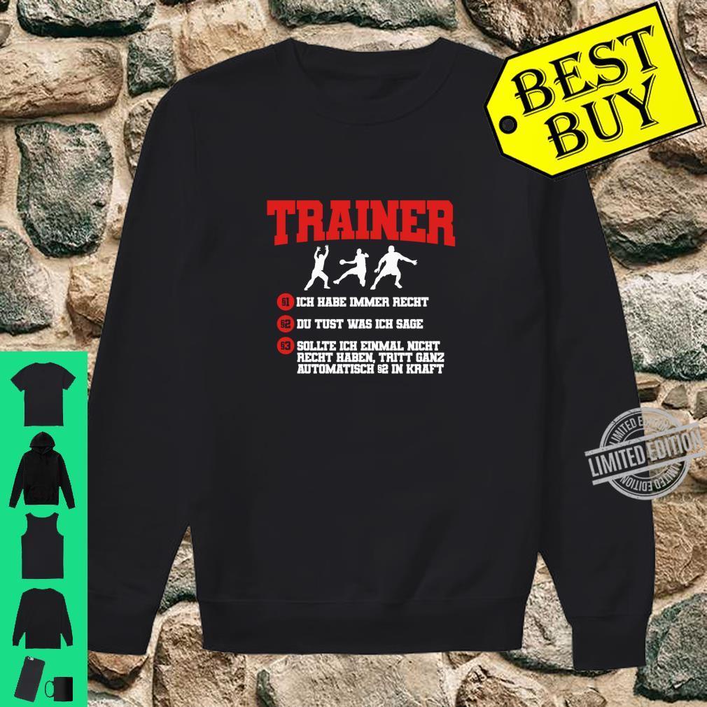 Cooler Handball Trainer Spruch Handballtrainer Geschenk Langarmshirt Shirt sweater