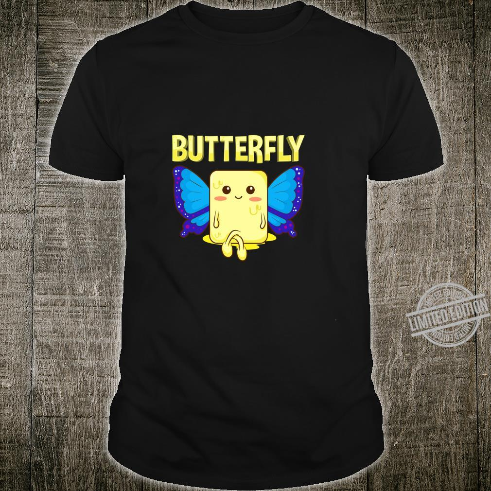 Cute & Butterfly Stick Of Butter With Wings Pun Shirt