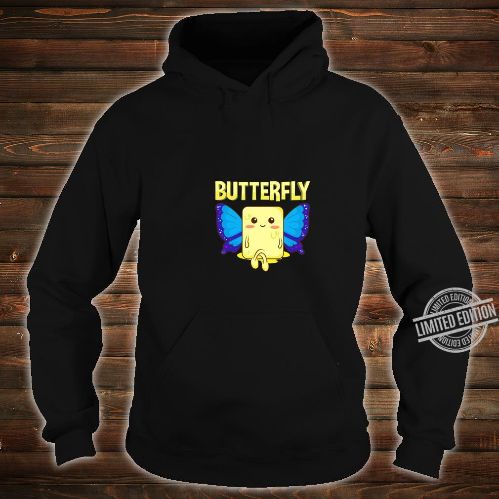 Cute & Butterfly Stick Of Butter With Wings Pun Shirt hoodie