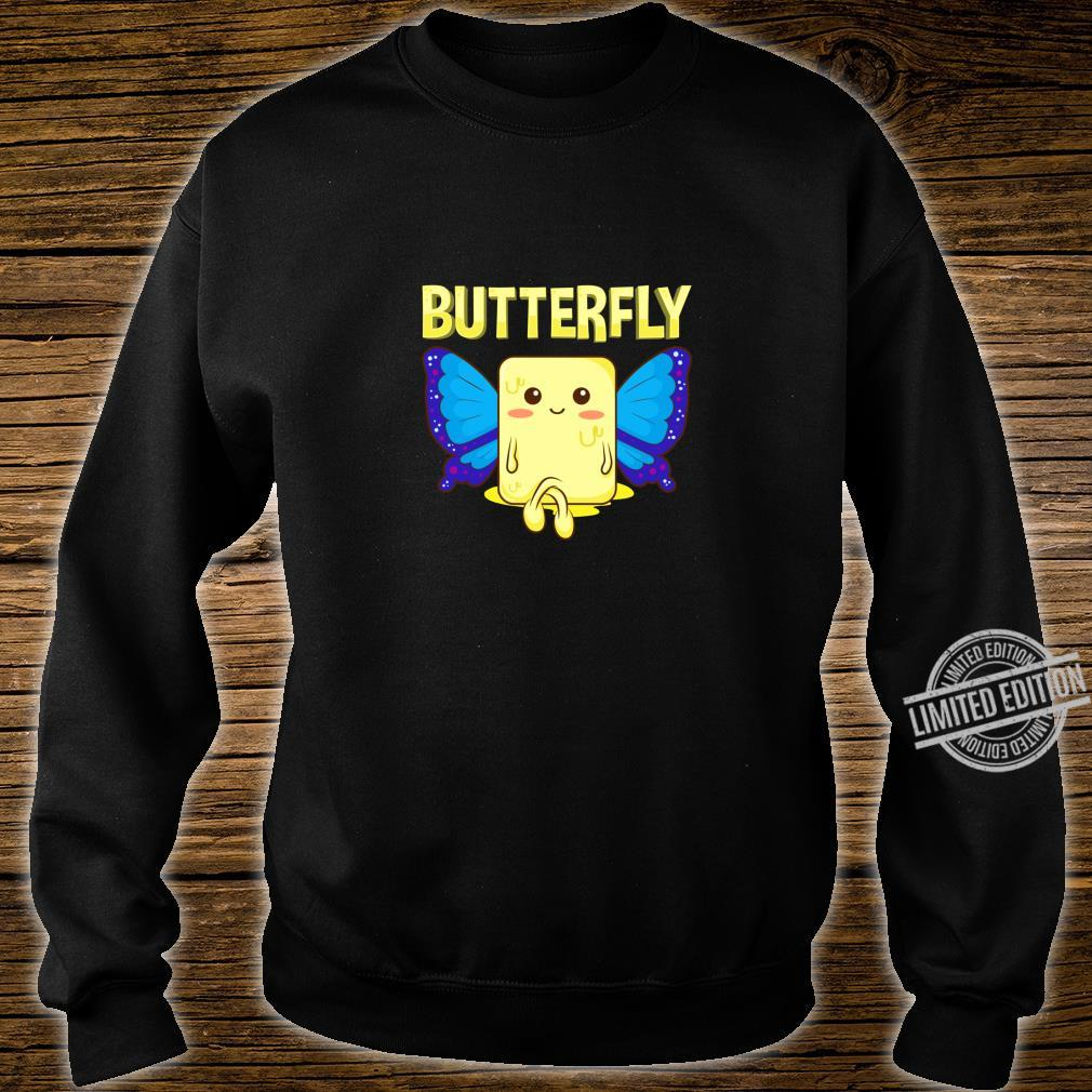 Cute & Butterfly Stick Of Butter With Wings Pun Shirt sweater
