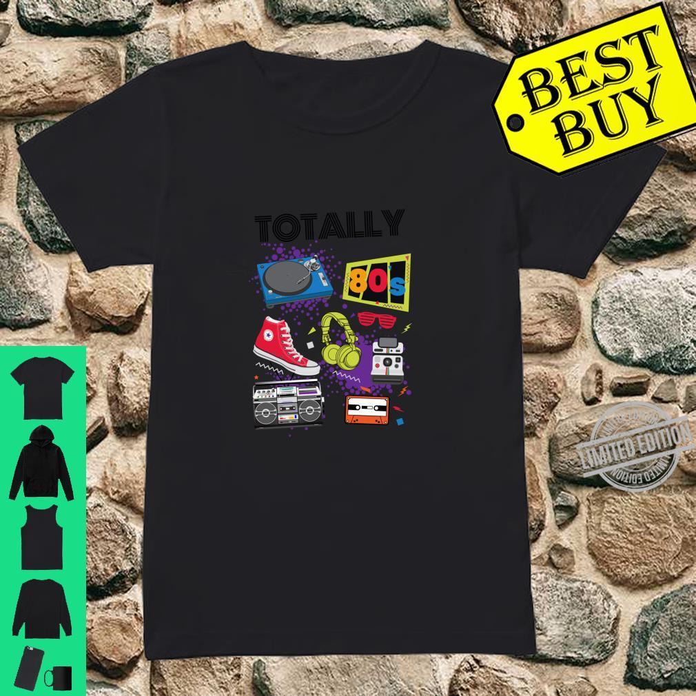 Cute Retro Totally 80s Elements 1980s Fan Throwback Fun Shirt ladies tee