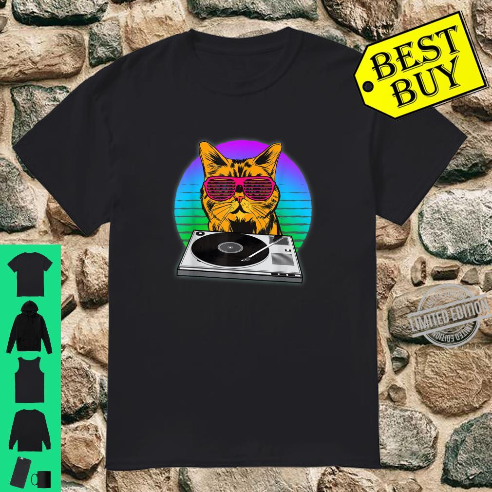 DJ I Discjockey I Cat Rave I Musik DJ Katzen Shirt