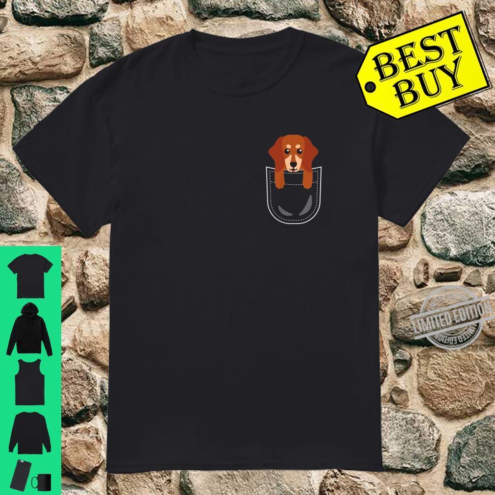 Dackel Tasche Dachshund Teckel Pocket Animals Shirt