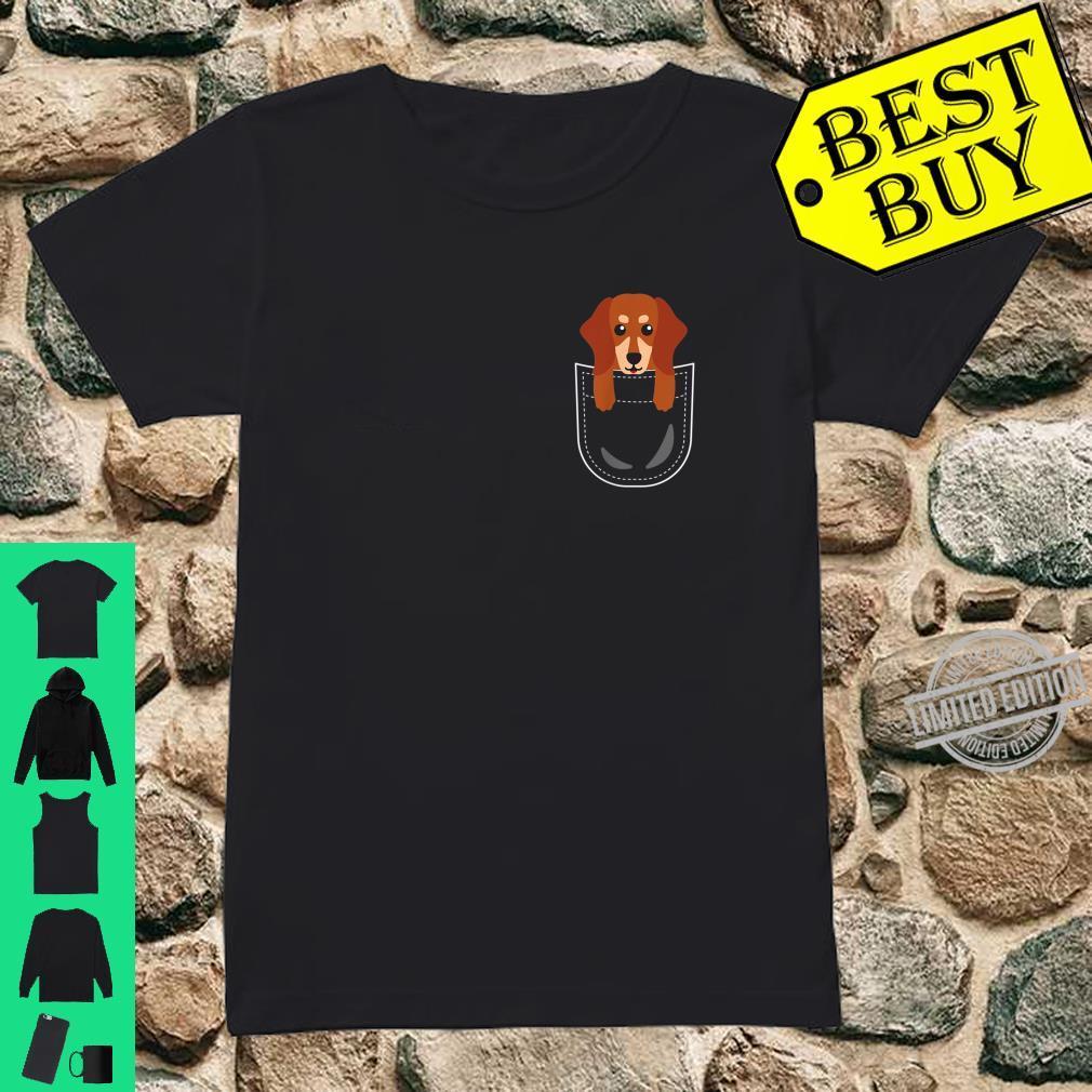 Dackel Tasche Dachshund Teckel Pocket Animals Shirt ladies tee
