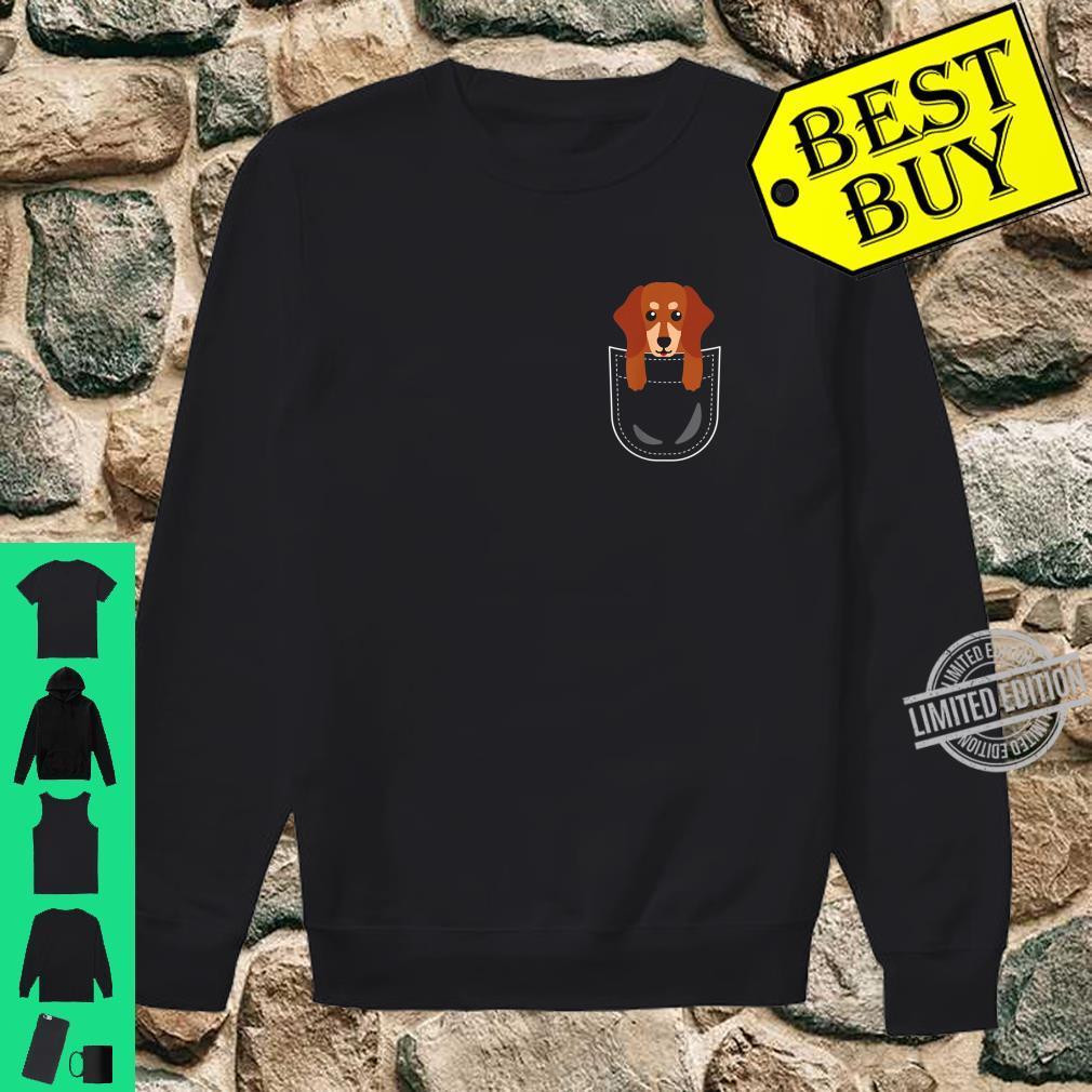 Dackel Tasche Dachshund Teckel Pocket Animals Shirt sweater