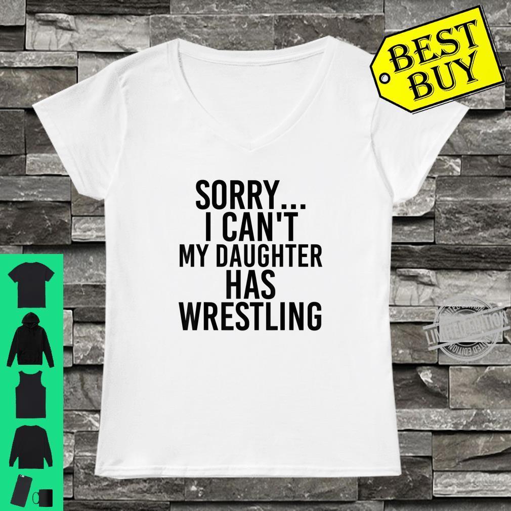 Dad Mom My Daughter Has Wrestling Shirt ladies tee