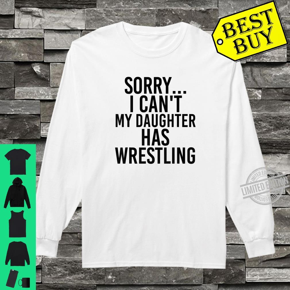 Dad Mom My Daughter Has Wrestling Shirt long sleeved