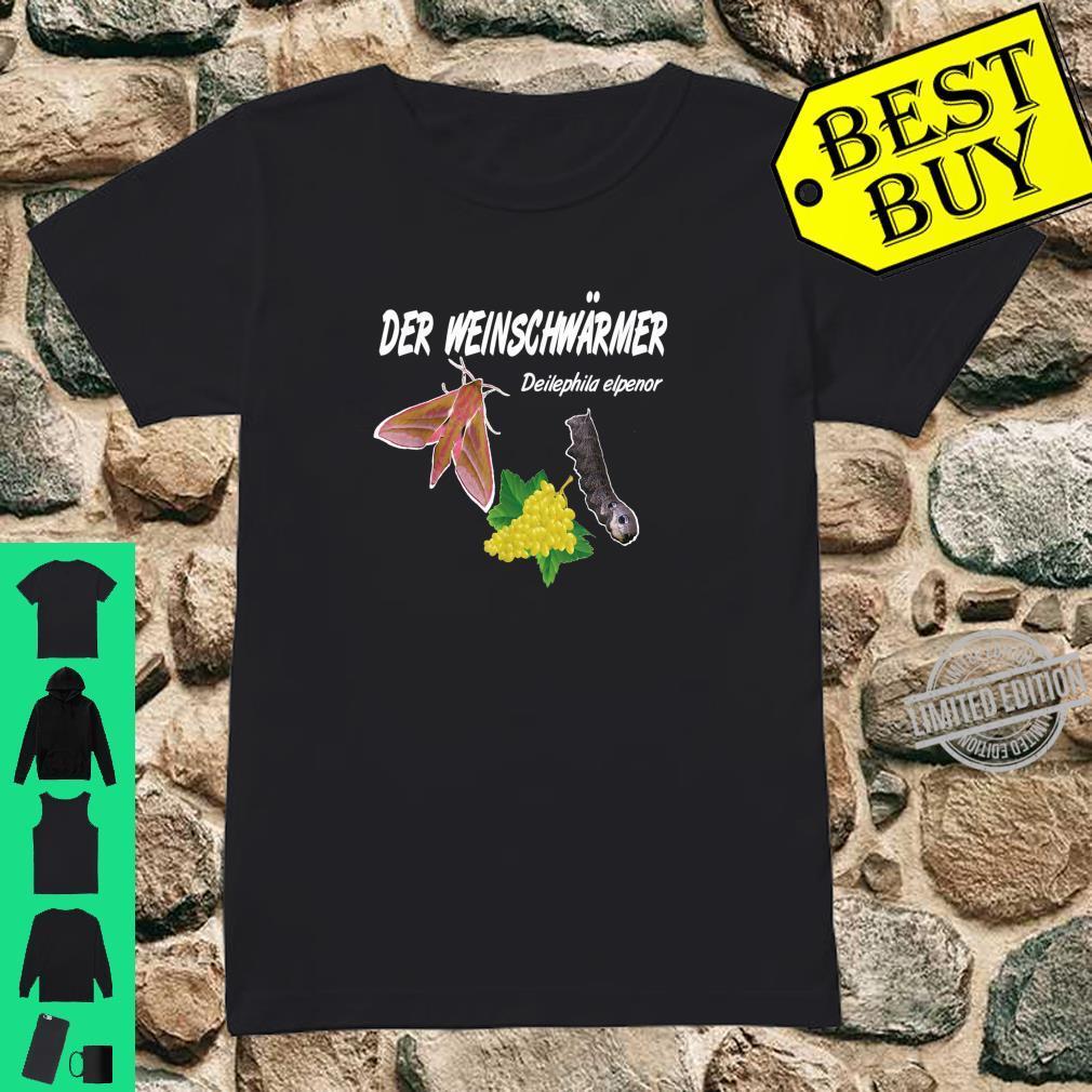 Der Weinschwärmer, Winzer Insekten Weinkenner Geschenk Shirt ladies tee