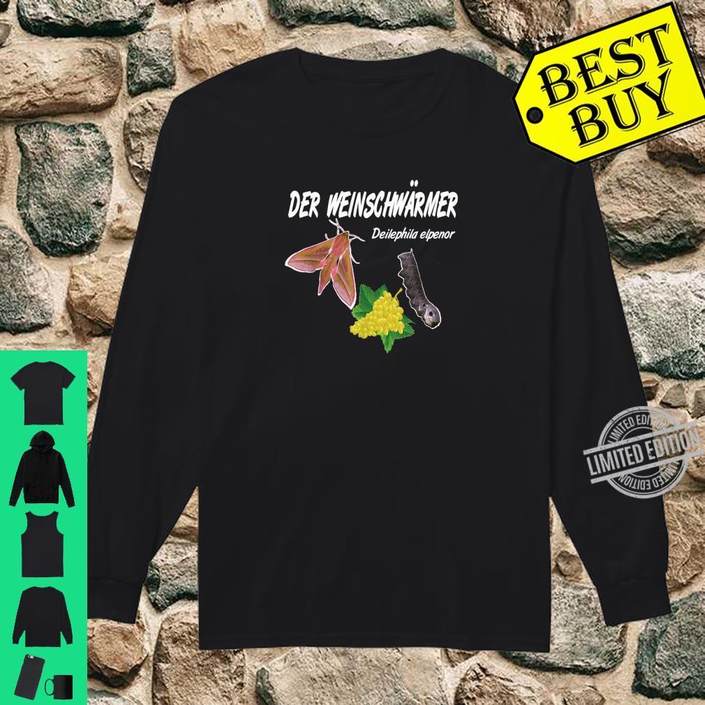 Der Weinschwärmer, Winzer Insekten Weinkenner Geschenk Shirt long sleeved