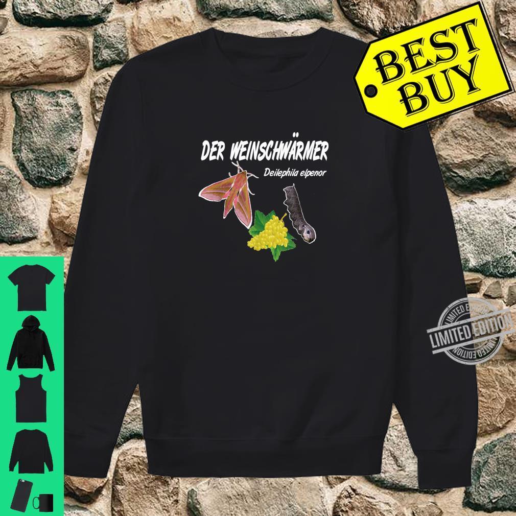 Der Weinschwärmer, Winzer Insekten Weinkenner Geschenk Shirt sweater