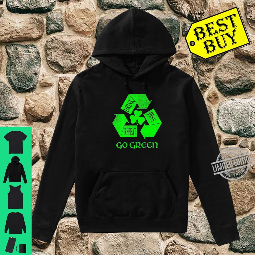 Drink Piss Repeat Go Greens Shirt hoodie