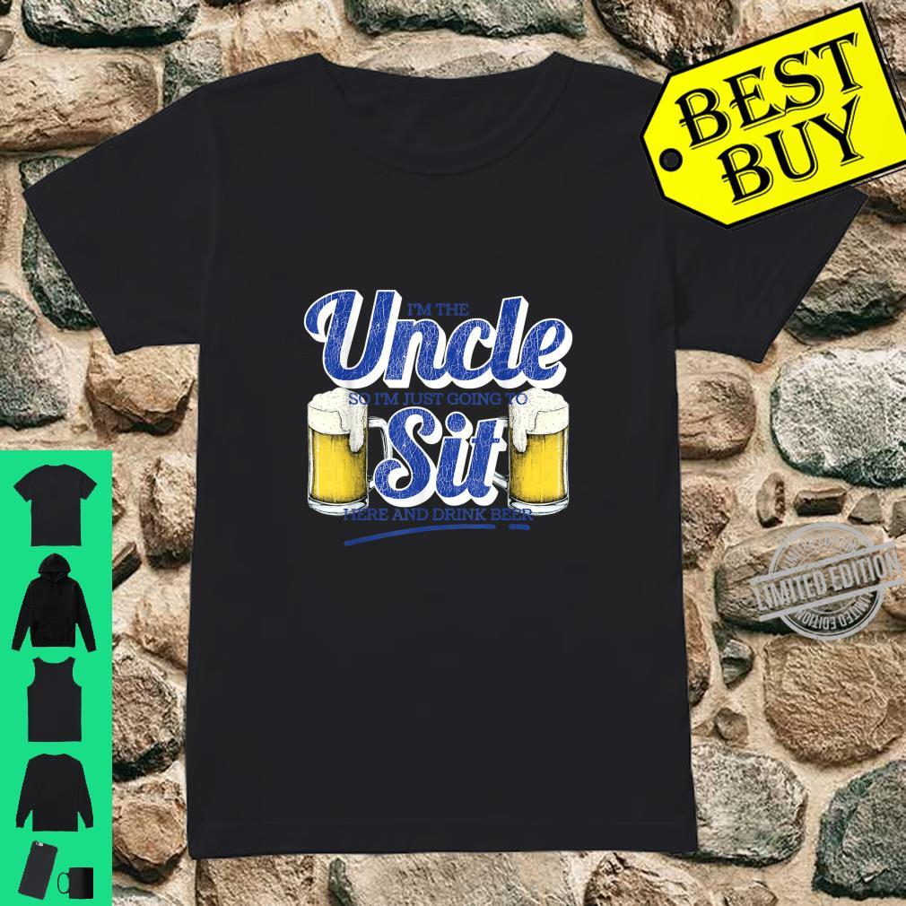 Drinking Party I'm The Uncle Craft Beer Design Shirt ladies tee