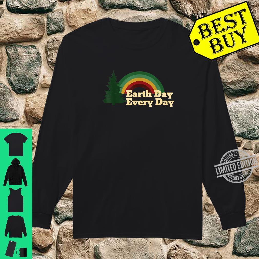 Earth Day Everyday Rainbow Pine Tree Design T-Shirt