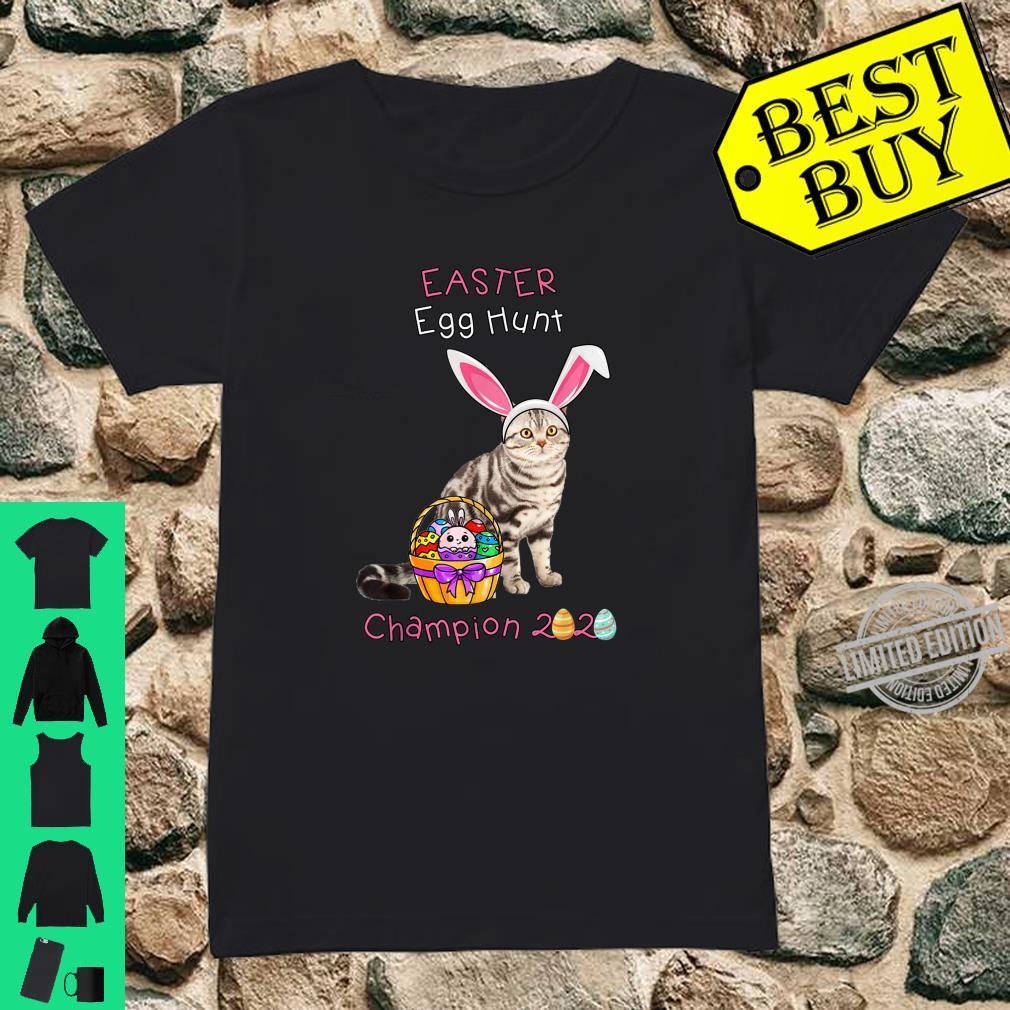 Easter Day American Shorthair Cat Easter Shirt ladies tee