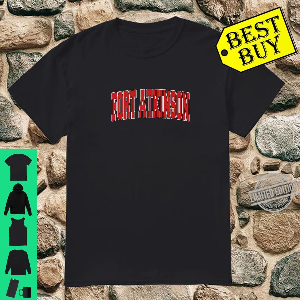 FORT ATKINSON WI WISCONSIN Varsity Style USA Vintage Sports Shirt