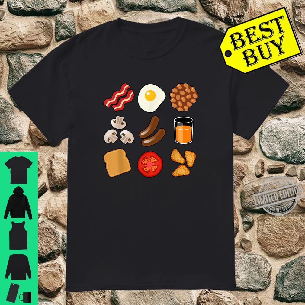 Full English Breakfast Short Sleeve Black Shirt